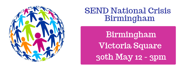 SEND National Crisis Birmingham Victoria Square 30th May 12-3pm